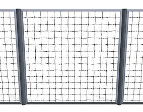 Low Poly Modular Fence 15 3D asset