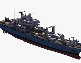 3D model Ocean Container Ship