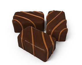 chocolate candies 2 3D asset