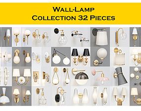 Wall-Lamp Collection 32 Pieces 3D