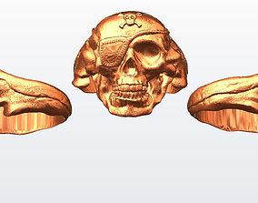 3D print model Pirate skull ring