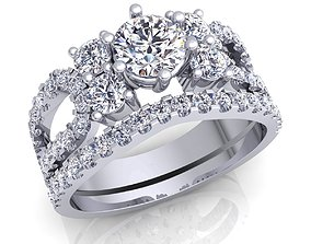 Aarna Luxury Woman Diamond Ring 3d model pint