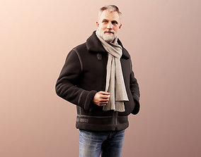 3D Alex 11830 - Man in warm winter jacket chatting