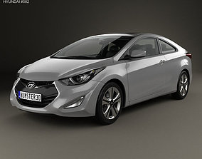 Hyundai Avante JK coupe with HQ interior 2014 3D