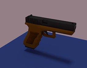 Glock 17 3D model low-poly