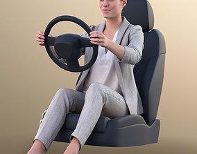 3D 10779 Juliette - Business Woman Driving A Car