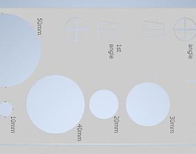 orthogonal stencil 3D print model