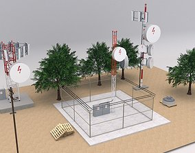 Telecommunication Towers Scene 3D