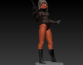 Stylized Gun Girl 3D printable model