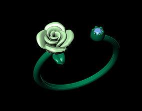 3D printable model Rose flower ring vintage design