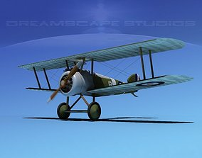 engine Sopwith Camel 3D rigged