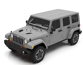 3D vehicle jeep car