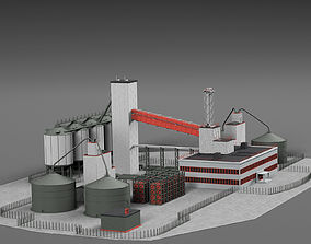 3D model Chemical plant