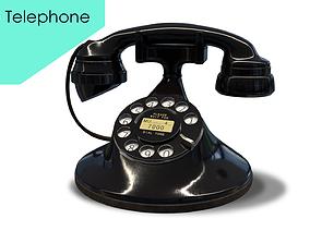 Retro Telephone0001 3D model
