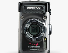 Olympus Tough TG-1 iHS Silver rugged and proof 3D model 2
