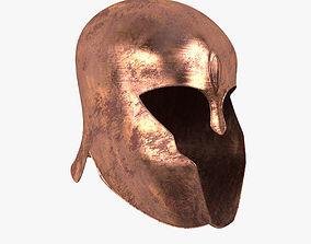 3D asset Achilles Helmet Model Realistic- Low Poly