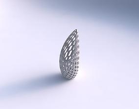 Vase Tsunami with checker grid lattice 3D printable model