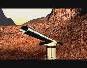 Transformable cannon 3D asset