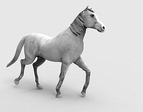 3D model VR / AR ready Horse Animated