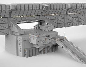 3D model sci-fi Wall 1