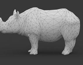 3D asset Low Poly Rhino Rhinoceros