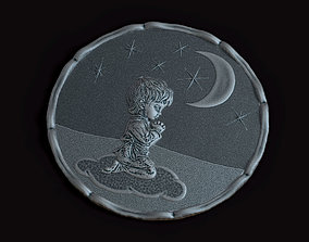 Little Prince bas-relief 3D printable model
