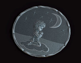 Little Prince bas-relief 3D print model