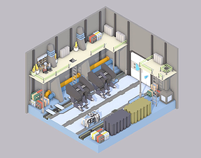 3D asset Sci-Fi Room