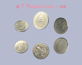 Thailand pbr - textured coin - set model - 7 PBR
