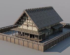 Japanese Modular Folk Houses 3D model