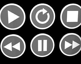 Player buttons 3D