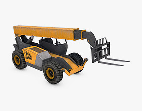 3D asset realtime Telescopic Handler Forklift