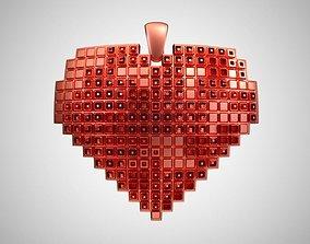 Heart Pendant 3D print model elegance