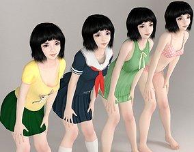Kayoko various outfit pose 03 3D