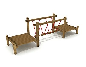 Kids Game Equipments 13 - Chain Bridge 3D model