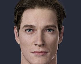 character Realistic Male Head 3D