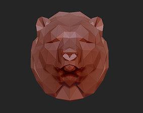 3D print model low poly head of a bear