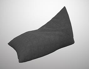 3D model animated Bean bag