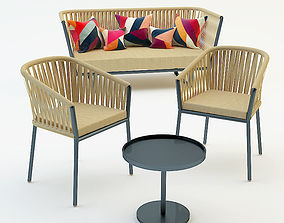 garden furniture set 2 3D