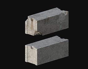 3D asset game-ready Concrete block