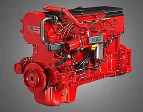 X15 Truck Engine - Efficeiency Series - 3d Model Engine