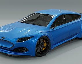 3D PBR Generic 4 door electric Sports Car