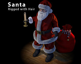 3D rigged Santa