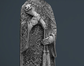 Old Chinese figure statue Woman 3D asset