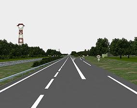freeway bridge highway navigation 3D road
