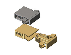 3D printable model Simple flexure bracelet and chain clasp