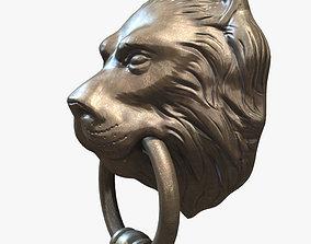 Lion Head Door Knocker 3D model