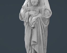 Virgin Mary with baby Jesus 3D asset