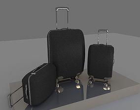 suitcase flight 3D model