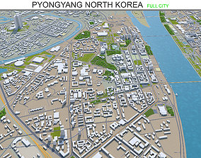 Pyongyang North Korea 40km 3D model